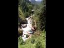 Полёт на тарзанке над горной рекой