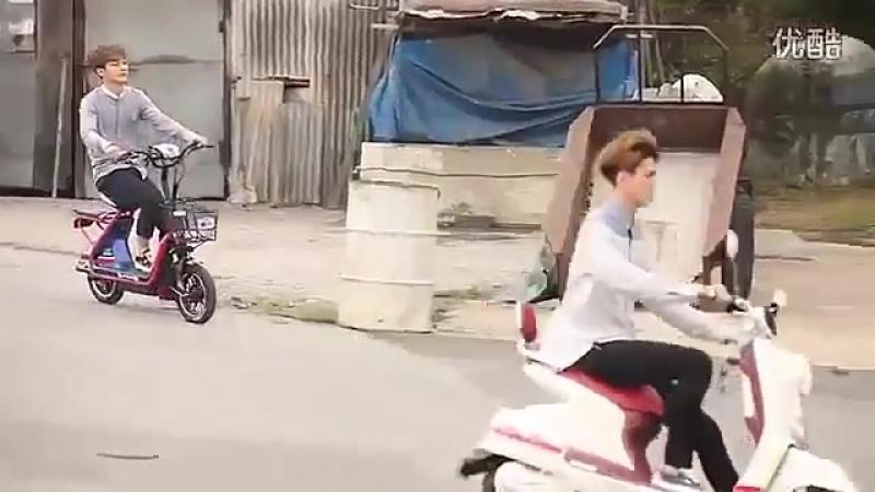 140910 EXO AIMA Bicycle CF Photoshoot BTS Making Film