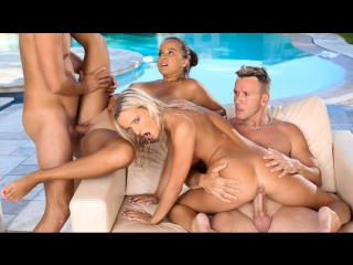 Olivia Nice, Victoria Pure / Pool Party / Anal Blonde Brunette Big Tits Foursome HD
