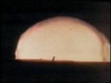 Полусферическая ударная волна при ядерном взрыве
