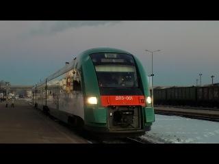 Дизель-поезд ДП3-001 с поездом №705 Полоцк-Могилёв.