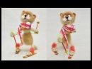 Спортивный Кот лыжник Пошаговый мастер класс по сухому валянию из шерсти для начинающих