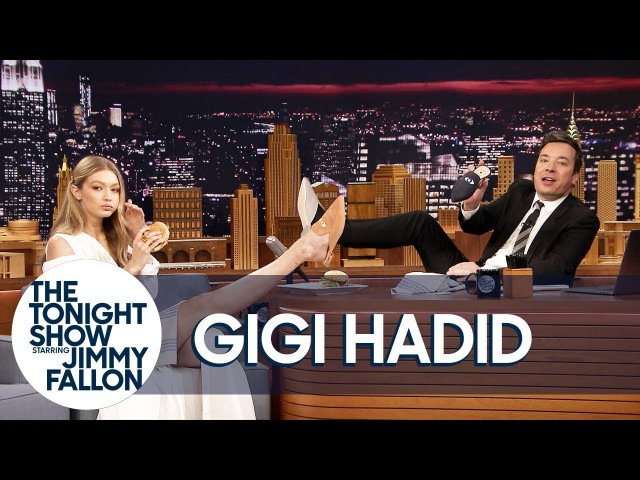 Gigi Hadid Gives Jimmy the Only Mens Pair of Her EyeLoveMore Mules