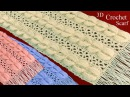 Bufandas a Crochet 3D en punto medallones de damascos tejidos tallermanualperu