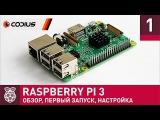 Raspberry Pi 3 обзор, первое включение, настройка Часть 1