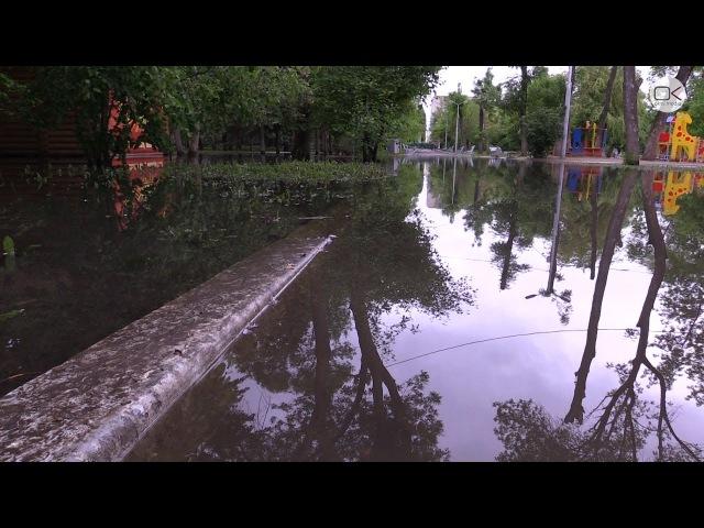 Городской парк в Энгельсе превратился в лужу