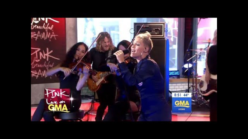 P!nk - Beautiful Trauma - LIVE (GMA)