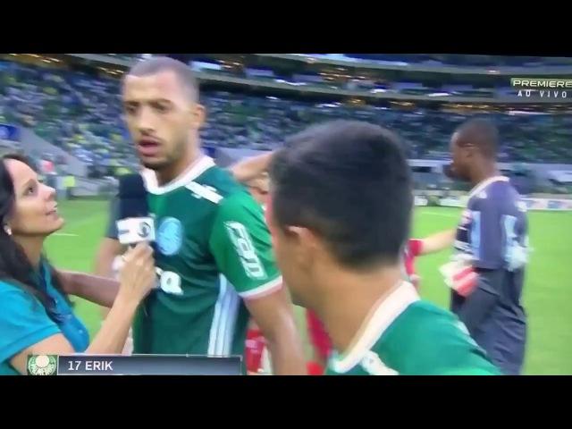 Repórter do SporTV corta jogador no meio da entrevista pra falar com outro kkkkk Palmeiras