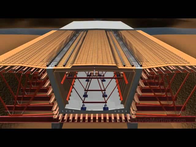 Construccion del puente Animacion 3D