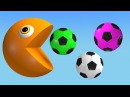 Learn Colors With Soccer Balls And Pac man For Kids, Toddlers, Children, Babies (Nursery)