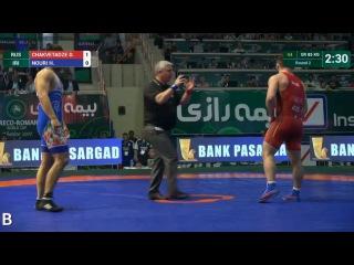 85 kg - Davit CHAKVETADZE (RUS) vs Hossein Ahmad NOURI (IRI) КМ Абадане-2017