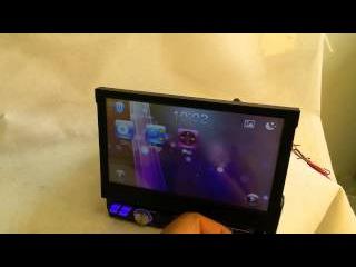 Автомагнитола 1din с выездным монитором GPS