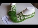 Yeşil krem papatya işlemeli patik modeli Çok kolay çeyizlik gelin patiği modeli