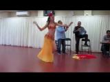 Rachel dances to Lama Rah el Sabr played by the Layali Zaman band 4141