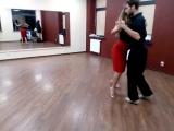Ksenia Fedorova y Daniele Donzello, bailan
