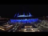 Аэросъемка 12.04.2017 на Дворцовой площади и стадионе Крестовский