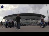 Болельщики стягиваются к стадиону на Крестовском острове на матч