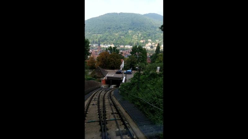 фуникулёр в Гейдельберге выезд из тоннеля