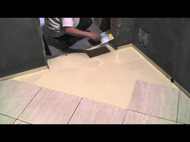 Laying ceramic tile on the floor. Clay Sikabond-T8 (Part 3)