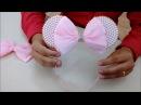 Tiara e faixa de bebê da Minie cor de rosa com pérola DIY