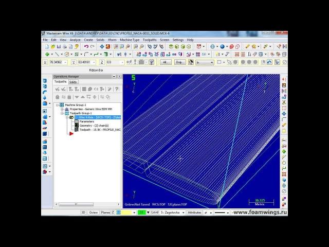 Загружаем модель SolidWorks в MasterCam. Создаём управляющую программу в G-Code