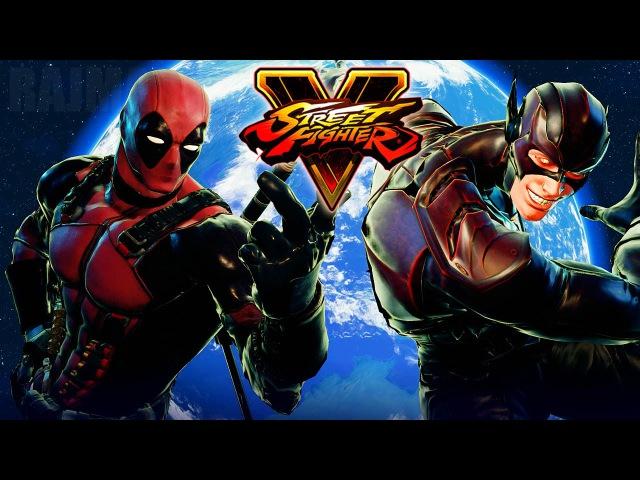 Street Fighter 5 - Deadpool vs The Flash (Marvel vs DC) Gameplay PC Mods @ 1080p (60fps) HD ✔