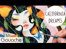 California Dreams Gouache Painting Bao Pham