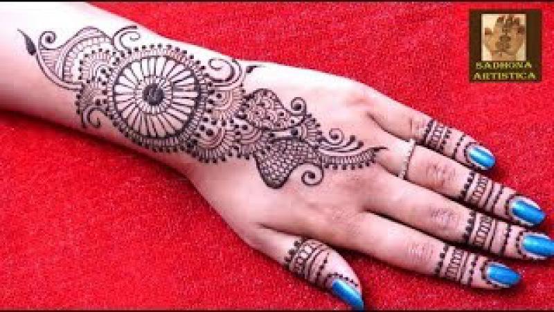 Simple Arabic Henna Designs Henna Tattoo By Sadhona Artistica