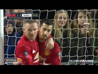 Манчестер Юнайтед - Уиган Атлетик 3:0. Генрих Мхитарян