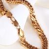 Позолоченные цепочки браслеты серьги под золото
