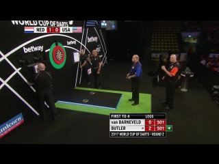 Netherlands vs USA (PDC World Cup of Darts 2017 / Round 2)