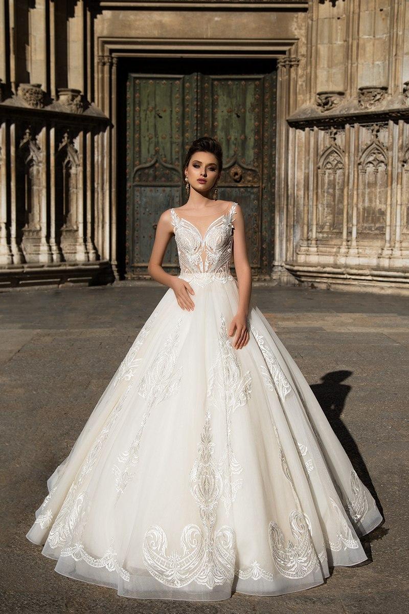 Wedding dresses com  Champagne Off Shoulder Long Wedding Dresses Lace Applique A Line