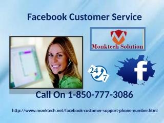 Get instant help via Facebook Customer Service 1-850-777-3086