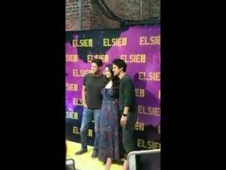 .@DarrenCriss, @auliicravalho and @JeremyMJordan on the red carpet at @ElsieFest via Elsie Fest's Instagram Story (October 8, 20