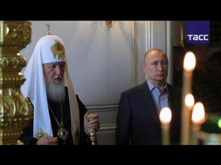 Владимир Путин посетил Валаам в день памяти преподобных Сергия и Германа