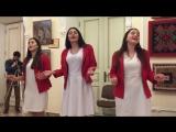 Девушки красиво исполнили Лакский гимн