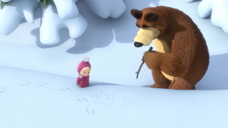 06.Маша и медведь.Следы невиданных зверей.(Masha and the Bear.Traces of unseen beasts.) 2010.BDRip.AVC.x264.720p.AC3.(3xRUS.)