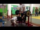Канафин Нургиз жим 80 на 3. вес 58 кг