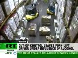 Drink Driving Forklift smashes massive vodka stock