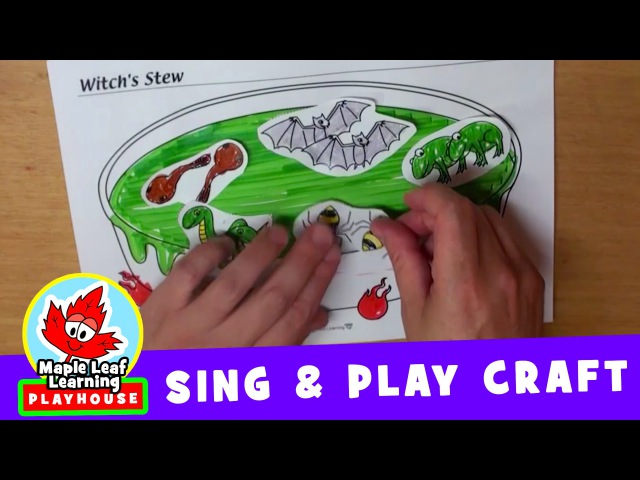 Witch's Stew Halloween Craft Sing and Play Craft for Kids Maple Leaf Learning Playhouse