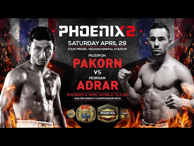 Пакорн - Адрар, 29.04.17,‏ Phoenix 2 Fighting Championship (4, 5)
