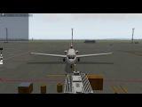Як-40 test X-Plane 11  USSS-USCM (отказ 2ух двигателей на взлете)