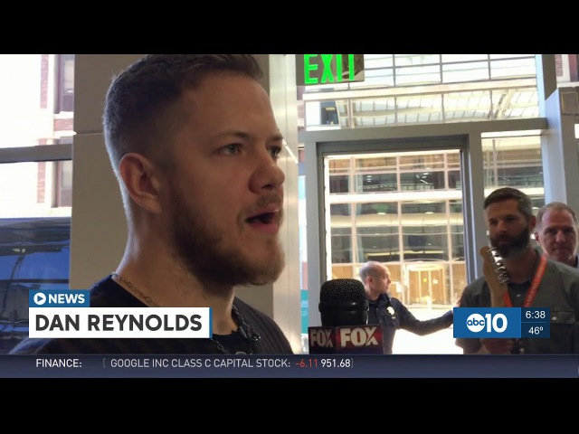 Dan Reynolds sings to sick children at Sacramento Hospital