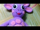 Лунтик из мультфильма. Мягкая игрушка вязаная крючком. Часть 1