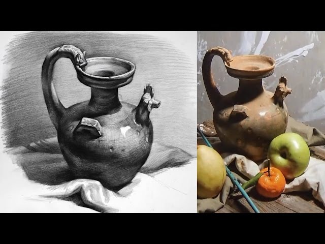 Still Life Drawing in Pencil - Timelapse