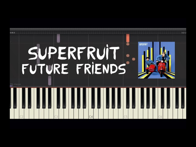 Superfruit - Future Friends - Piano Tutorial by Amadeus (Synthesia)