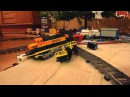 LEGO train crash Thomas the Tank Engine vs. BNSF freight train