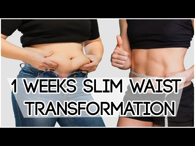 How to Get a Small Waist and Flat Stomach in a Week | Slim Waist Transformation/Weight Loss Tips 85