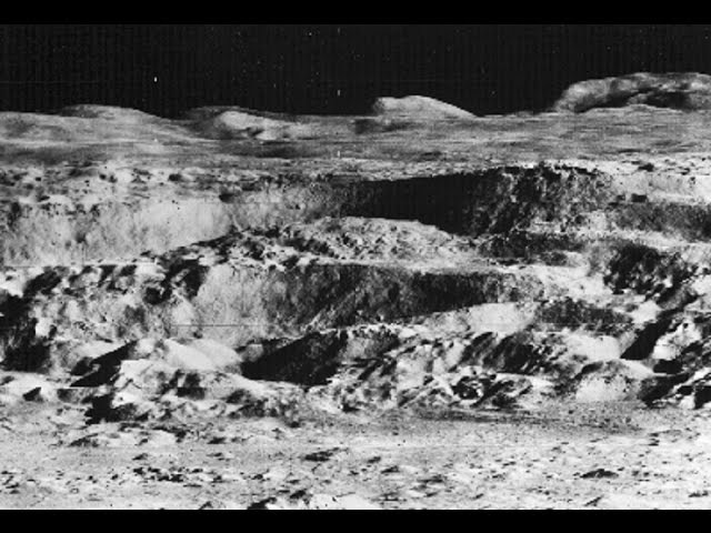 John Lear's Raw Moon Image - Alien Structures Towers Mining Lunar Bases