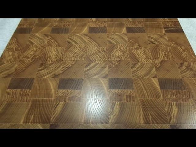 ADM Wood Торцевая разделочная доска из ясеня и дуба